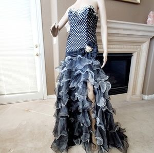 Tony Bowls Gala Ruffle dress